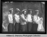 Five men with hats and cigars, Wildrose, N.D.