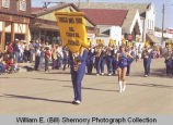Tioga Farm Festival 1984, Tioga High School marching band, Tioga, N.D.