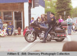 Band Day parade 1998, Chief of police Ray Atol on motorcycle, N.D.