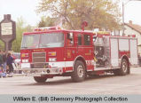 Band Day parade 1998, new Williston Fire Department truck, N.D.