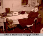 Williston Herald Society editor at desk, N.D.