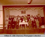 Unidentified couple 50th Anniversary in Sons of Norway Lodge, Williston, N.D.