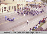 Band Day parade 1981, Memorial Junior High marching band, Williston, N.D.
