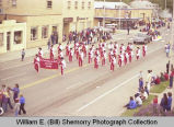 Band Day parade 1981, Alexander Comets band, Williston, N.D.