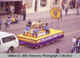 Band Day parade 1981, Williston Lions Club float, Williston, N.D.