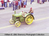 Band Day parade 1981, John Deere tractor, Williston, N.D.