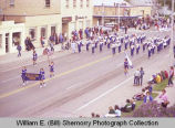 Band Day parade 1981, Trenton High School Band, Williston, N.D.