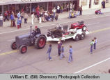 Band Day parade 1981, Cenex lawnmowers, Williston, N.D.