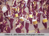 Band Day parade 1981, Minot High School band, Williston, N.D.