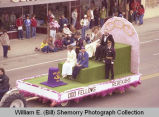 Band Day parade 1981, Odd Fellows and Rebekahs, Williston, N.D.