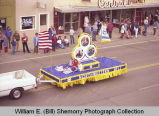 Band Day parade 1981, Northwestern Bell Telephone Company, Williston, N.D.