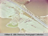 Williston aerial photograph, bridge over Little Muddy River, N.D.