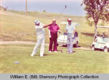 Senator Milton Young and others golfing, Williston, N.D.