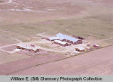 Horse barn aerial photograph, Williston, N.D.