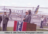 Sloulin Field International Airport rededication and air show, speaker, N.D.