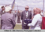 Sloulin Field International Airport rededication and air show, Jack E. Daniels with Air Force...