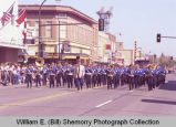 Band Day parade 1984, marching band, Williston, N.D.