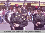 Band Day parade 1984, Estevan Kiltie Band, Williston, N.D.