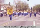 Band Day parade 1984, Tioga High School band, Williston, N.D.