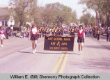 Band Day parade 1984, Ray High School band, Williston, N.D.