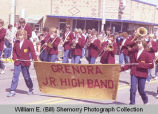 Band Day parade 1984, Grenora Junior High band, Williston, N.D.