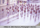 Band Day parade 1982, marching band, Williston, N.D.