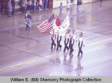 Band Day parade 1982, Williston High School band, Williston, N.D.