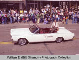 Band Day parade 1983, Myron Floren, Williston, N.D.