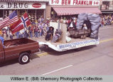 Band Day parade 1983, theatre float, Williston, N.D.