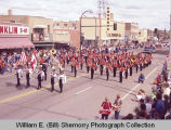 Band Day parade 1983, Williston High School band, Williston, N.D.