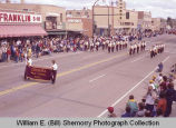 Band Day parade 1983, Grenora High school band, Williston, N.D.
