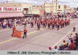 Band Day parade 1983, Williston High School Freshman band, Williston, N.D.