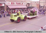 Band Day parade 1983, Odd Fellows and Rebekahs float, Williston, N.D.