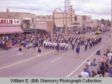 Band Day parade 1983, Culbertson High School band, Williston, N.D.