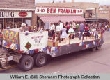 Band Day parade 1983, Williston State Line Squares, Williston, N.D.