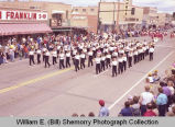 Band Day parade 1983, marching band, Williston, N.D.