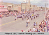 Band Day parade 1983, Indian Head School band, Williston, N.D.