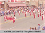 Band Day parade 1983, Alexander Comets band, Williston, N.D.