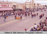 Band Day parade 1983, Grenora Junior High School Band, Williston, N.D.