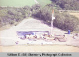 Unidentified oil well aerial photograph, Buford-Trenton, N.D.