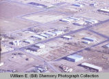 Watford city aerial photograph, businesses, N.D.
