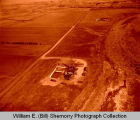 Samedan Monson Trust #1 and Hardy Salt Papineau #1 oil rigs aerial photograph, N.D.