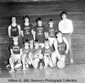 Grenora Gophers basketball team portrait
