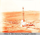 Benhomer Risser oil well aerial photograph, McKenzie County, N.D.