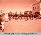 Tioga Farm Festival 1961, marching band, Tioga, N.D.