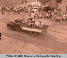 Tioga Farm Festival 1956, Beta Sigma Phi float, Tioga, N.D.