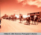 Tioga Farm Festival 1961, people on horseback, Tioga, N.D.