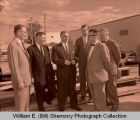 Tioga Farm Festival 1956, oil officials, Tioga, N.D.