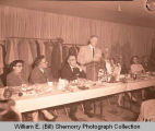 Tioga Farm Festival 1956, banquet with oil officials, Tioga, N.D.