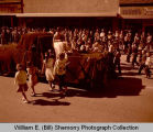 Williston oil and farm festival parade, princess on float, N.D.